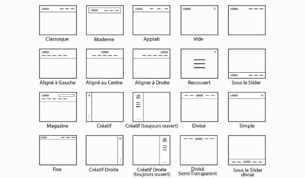 Liste des headers des outils WebduSud