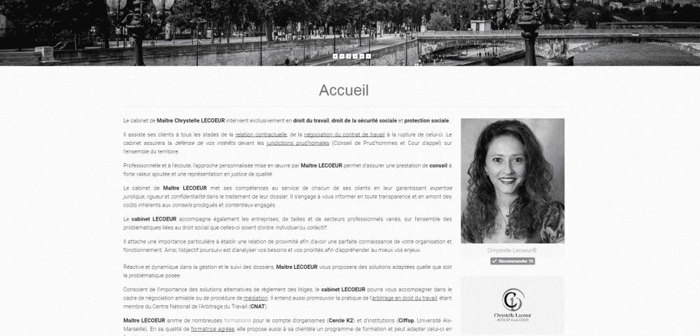 Screenshot site lecoeur-avocat.fr